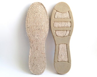 "Wear the authentic Spanish espadrille soles, the Mediterranean and eco-friendly jute rope flats. 40 EU (25.6 cm / 10.08"")"