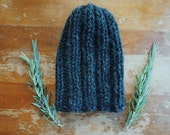 CAMP BEANIE // simple + classic ribbed cozy knit beanie for adults