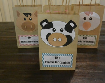 Party Bags, Farm Party, Birthday Favours, Barn Yard Animals