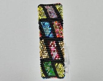 crochet bracelet colored, seed bead bracelet, beaded bracelet