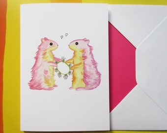 Valentines Hamster Card