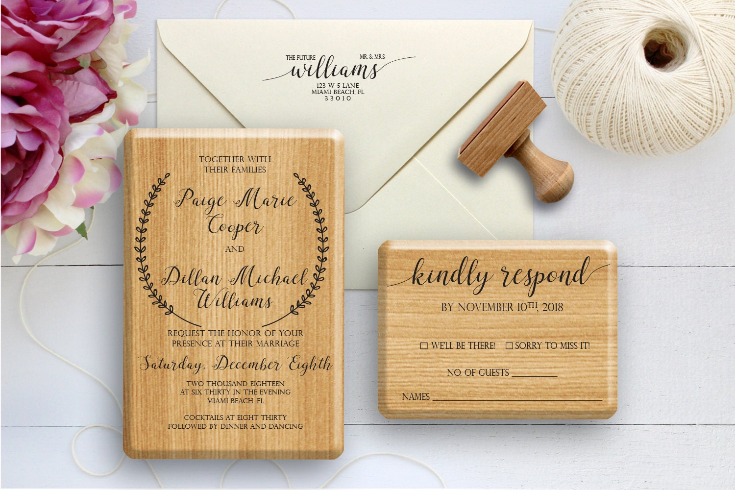 Wedding Stamp, Wedding Invitation Stamp, Wedding RSVP Stamp, Wedding ...