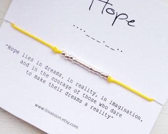 HOPE - Morse Code Bracelet