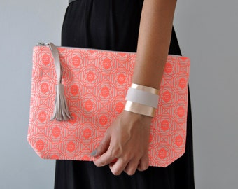 Cotton Clutch, Handbag, Boho Clutch
