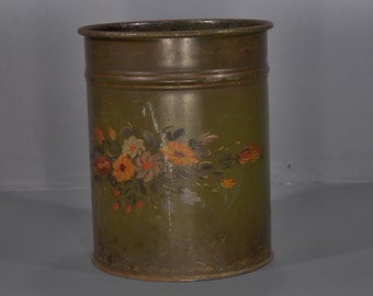 Antique French Tole Can - A00056