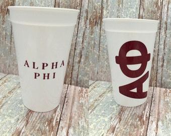 Alpha Phi Sorority Cup; APhi Cup; Alpha Phi Cup; Aphi Stadium Cup; Alpha Phi Tumbler; Alpha Phi Gift; Sorority Cup