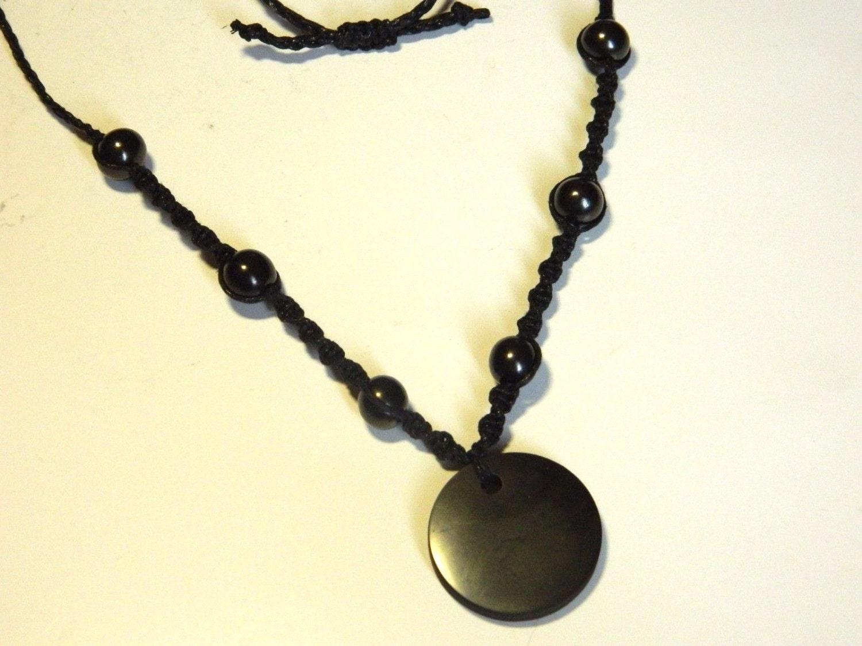 shungite pendant necklace magic from karelia