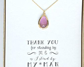 Plum Necklace Gold, Plum Bridesmaid Necklace, Purple Bridesmaid Jewelry Gift,Purple Wedding Necklace, Plum Wedding, Bridesmaid Necklace, NK1