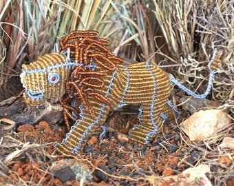 Beaded African lion