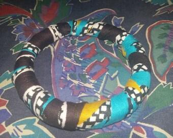 African print chunky bangle
