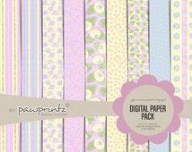 Shabby Chic Precious Moments Digital Paper Pack-Precious Moments 12x12 scrapbook paper-Shabby Chic Patterns