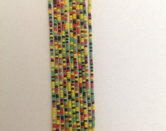 Long colorful African Beads