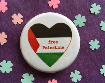 Free Palestine button