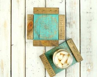 Wood Coasters- Drink Coasters- Wooden Coasters- Coaster Set- Rustic Coasters- Rustic Wood Coasters- Wedding Gift- Housewarming Gift- Boho