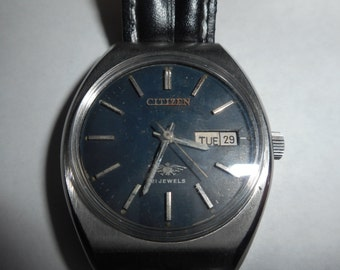 25% OFF Vintage Mens CITIZEN 21 JEWELS Date - Day Wind Up