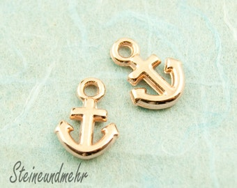 5 pcs. charm anchor rosegold pl. 12mm #3100