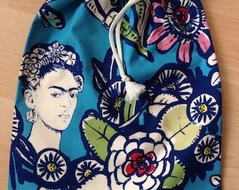 Lingerie, travel, frida blue cactus bag purse