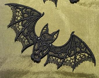 Free Standing Lace Halloween Bat, Articulated, Halloween Decor, Set Discount