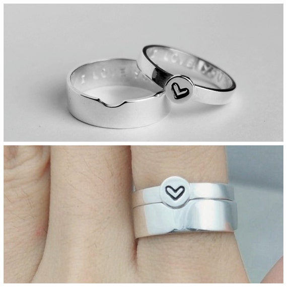Matching Couple Rings Promise Rings Couples Ring His and Her Promise Rings For Couples Personalized Couples Ring Set Christmas Gift