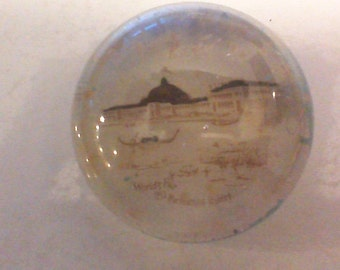 1893 World's Fair Chicago Paperweight featuring the Horticultural Building