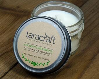 Coconut Lime Verbena Soy Candle 4 oz.