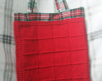 knitted shoulder bag
