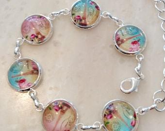 Delicate bracelet Paris pink