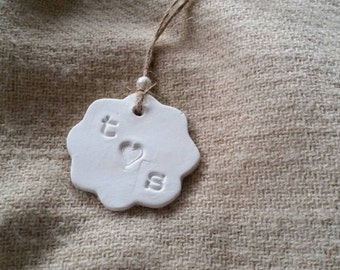100 Custom Clay Gift Tags ~ Wedding Favors ~ Wedding Favor Tags ~ Personalized Gift Tags ~ Wedding Favor Gift Tags