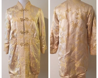 1970s Vintage Chinese Smoking Jacket