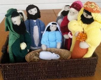 Knitted Christmas Nativity scene