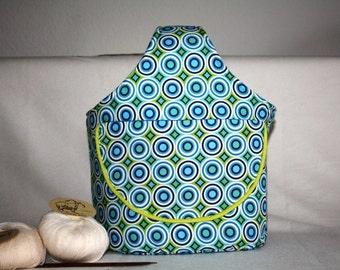 Handarbeitskorb fabric basket sewing basket fabric basket, pouch, wristlet