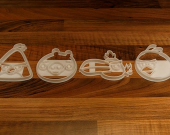 Angry Birds Cookie Cutters x 4 -  Angry Birds Biscuit Cutters