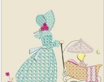 "Southern belle machine embroidery instant download 3 different sizes (5x5 6x6 8x8"" hoop)"