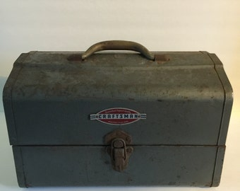 Vintage 1950s Craftsman Metal Tool Box