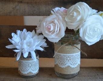 Rustic Wedding Jars - Mix of 2 sizes Sample Pack - 2 JARS