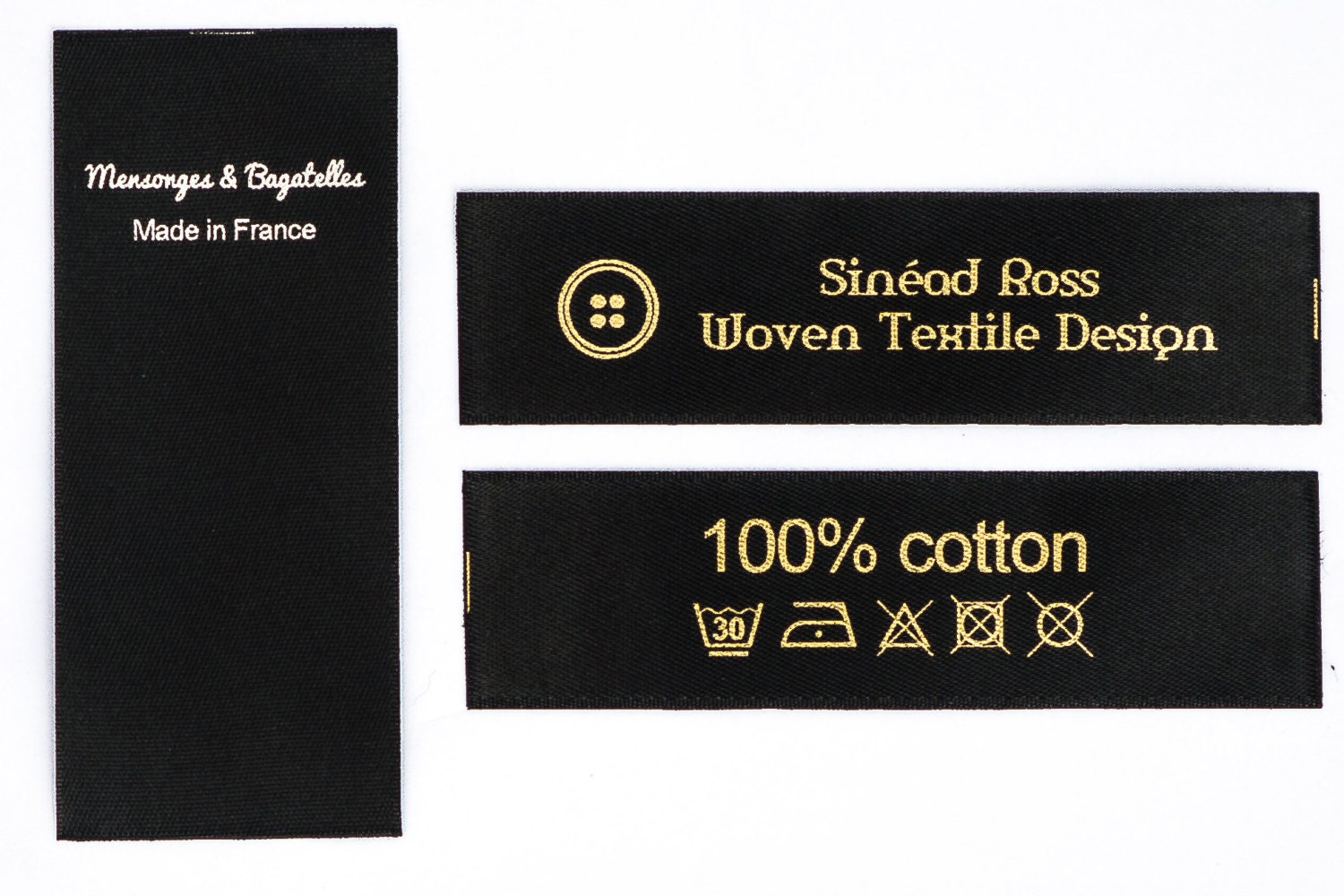 Washable Printed Satin Labels Text Amp Symbol 100 Pcs Only 20