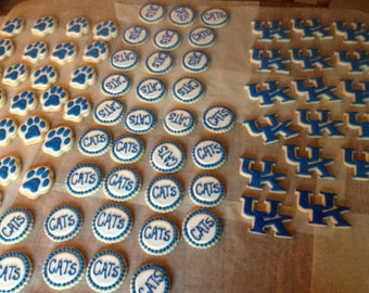 University of Kentucky Decorated Sugar Cookies