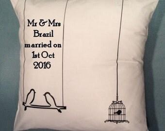 Personalised Bird Cage Cushion