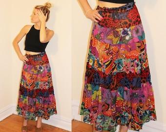 70s Vintage Boho Ultralight Quilt Skirt