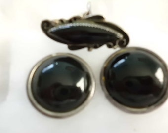 Black Onyx Ring and Earrings