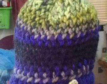 OOAK Baby Toddler Handmade Knitted Winter Hat