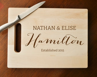 Personalized Cutting Board, Custom Cutting Board, Custom Personalized Wedding Gift, Housewarming Gift, Anniversary Gift, Engraved