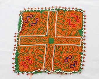 Hand Made Doilies - Afghan Table Cloths - Ethnic Tribal Kuchi - Vintage Doilies - Hand Embroidered - Traditional Nomadic Doilies # D12