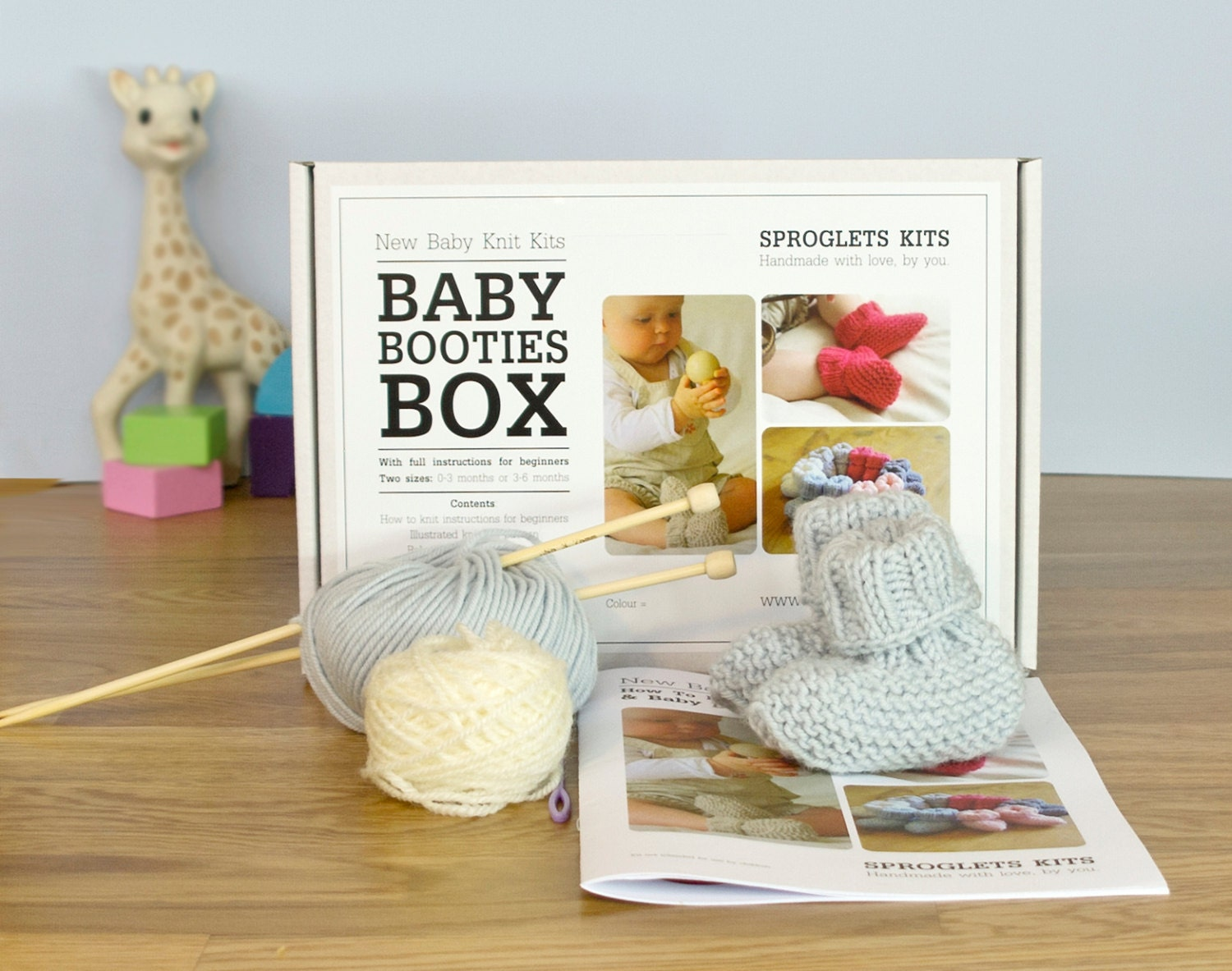 Knitting Kit For Beginners Singapore : Baby booties beginner knitting kit learn to knit easy