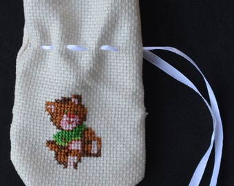Teddy bear pacifier pouch