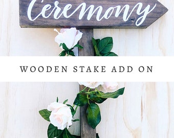 Wooden stake add on