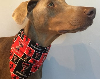 Med/Large Texas Tech University Dog Bandana