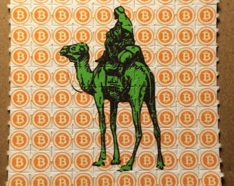 Bitcoin Silkroad Blotter art - 100 tab sheet