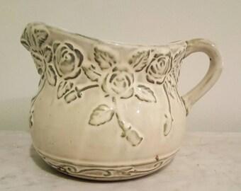 Clay Pitcher Flower Vase