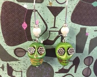 Lucky Leprechaun Skull Earrings!